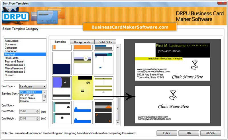 Windows 7 Business Cards Designing Software 8.3.0.1 full