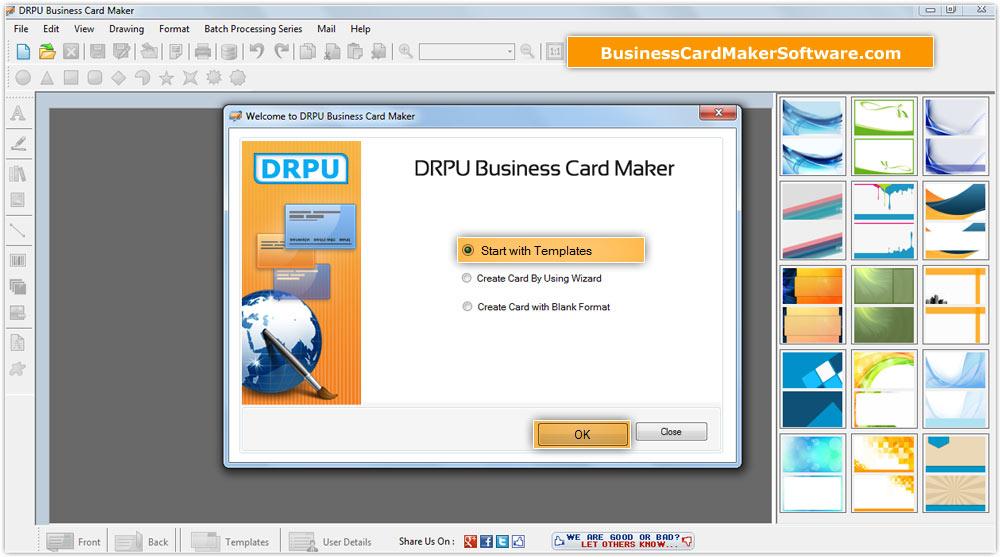Custom Card Template business card maker : Business Card Maker