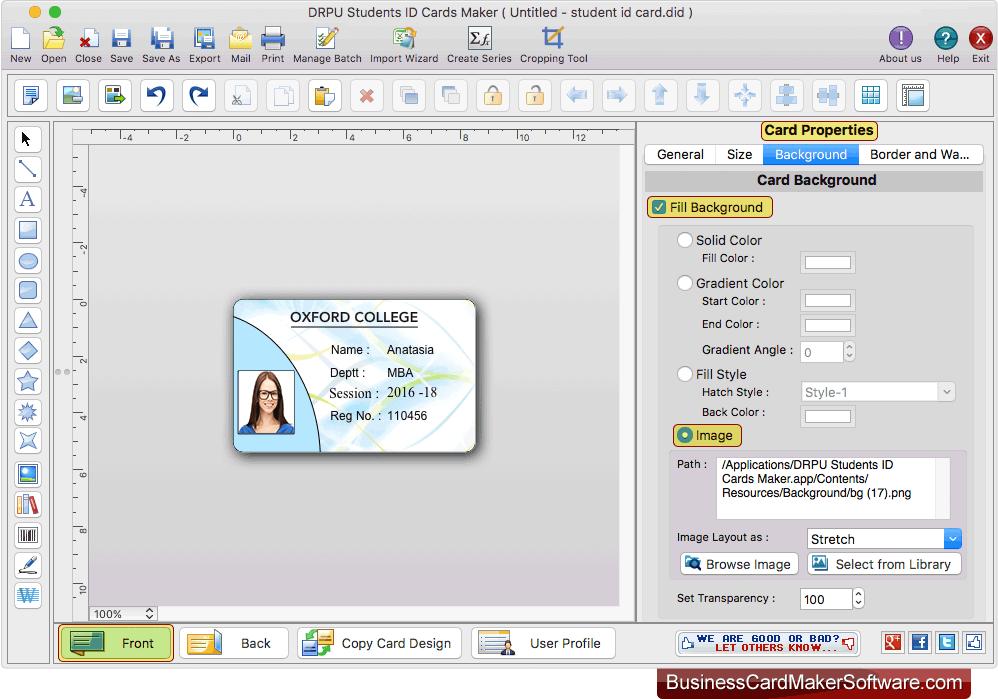 business card design software mac
