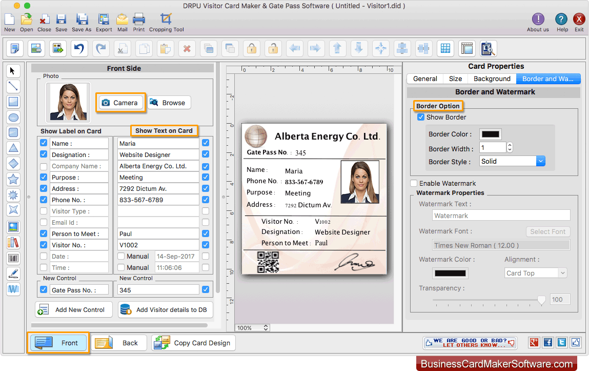 Mac Gate Pass Id Cards Maker Software Creates And Prints Visitor Id